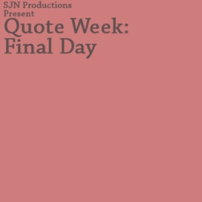 Quote Week: Sunday